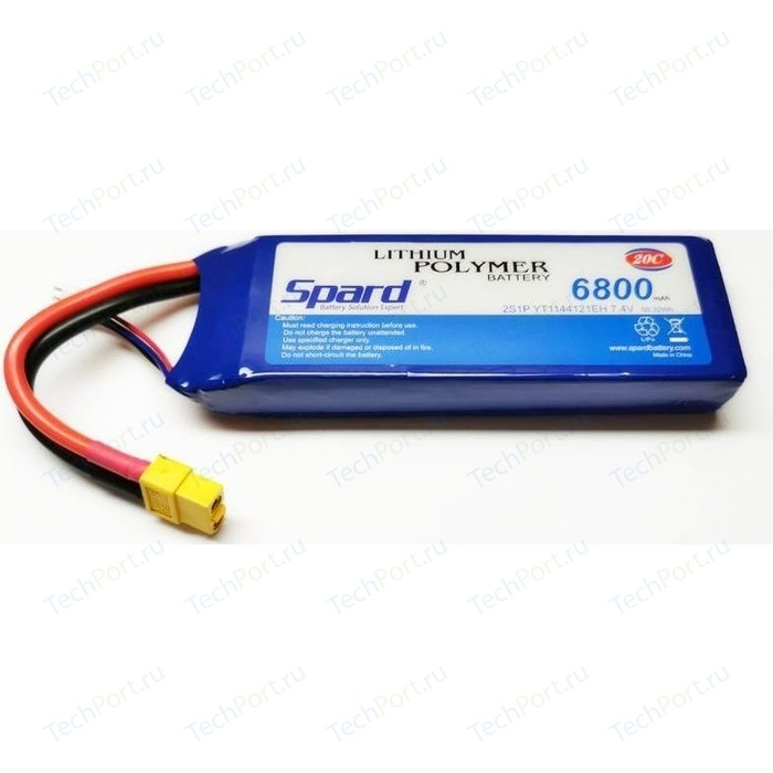 Аккумулятор Spard Li-Po 7.4V 6800mAh, 20C, XT60 - YT81202