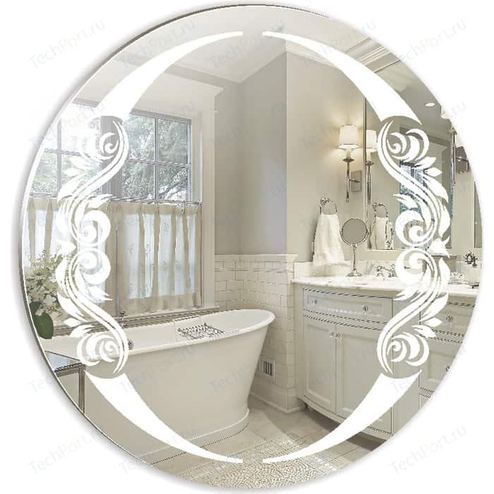 Зеркало Mixline Санторини D650 65х65 с пескоструйным рисунком (4620001986231)