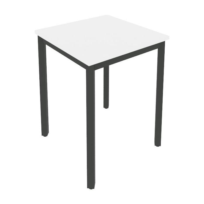 Стол письменный на металлокаркасе Riva Slim С.СП-1.1 белый/антрацит металл 60x60x75 комплект стол письменный на металлокаркасе riva slim с сп 4 клен антрацит металл 118x72x75 комплект