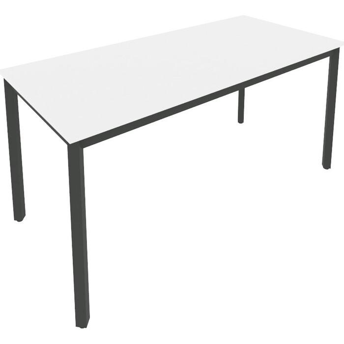 Стол письменный на металлокаркасе Riva Slim С.СП-6 белый/Ант. металл 158x72x75 Комп.