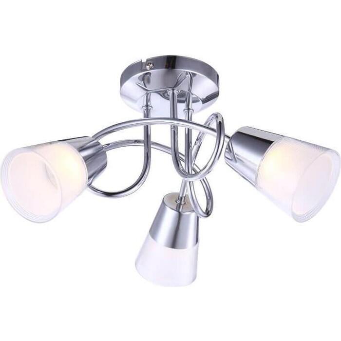 люстра светодиодная globo ina 12 вт 29 см цвет хром Потолочная светодиодная люстра Globo 56185-3D