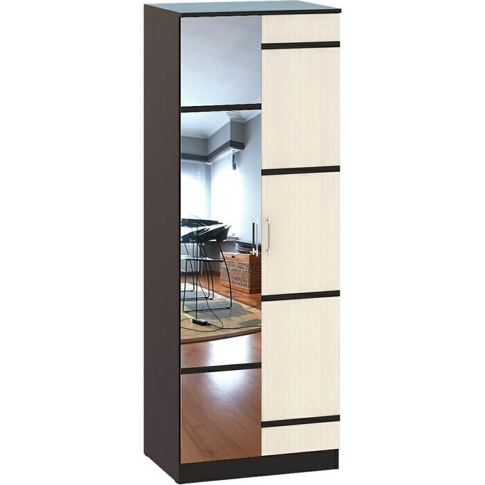 Шкаф 2-х створчатый комбинированный СВК Сакура венге/дуб лоредо