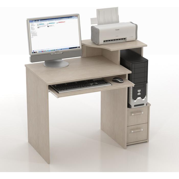 Фото - Стол компьютерный ТД Ная Прямой КС-10 Колибри дуб беленый стол компьютерный тд ная прямой кс 10 с иволга дуб беленый