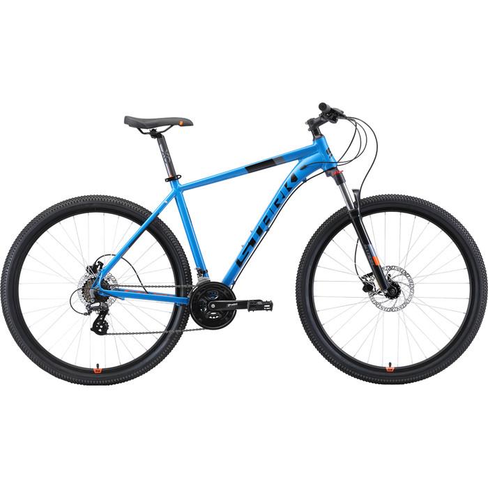 Велосипед Stark Router 29.3 HD (2019) голубой/чёрный/оранжевый 22