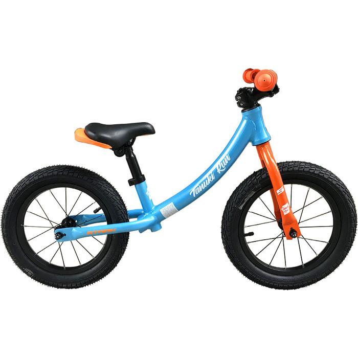 Велосипед Stark 19 Tanuki Run 14 голубой/оранжевый/белый (беговел)