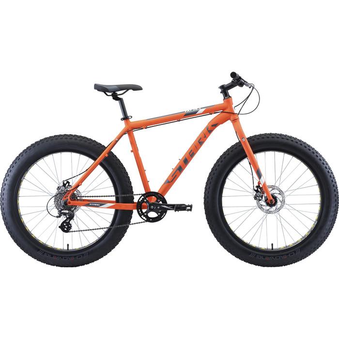 Велосипед Stark Fat 26.2 D (2020) оранжевый/серый/белый 20