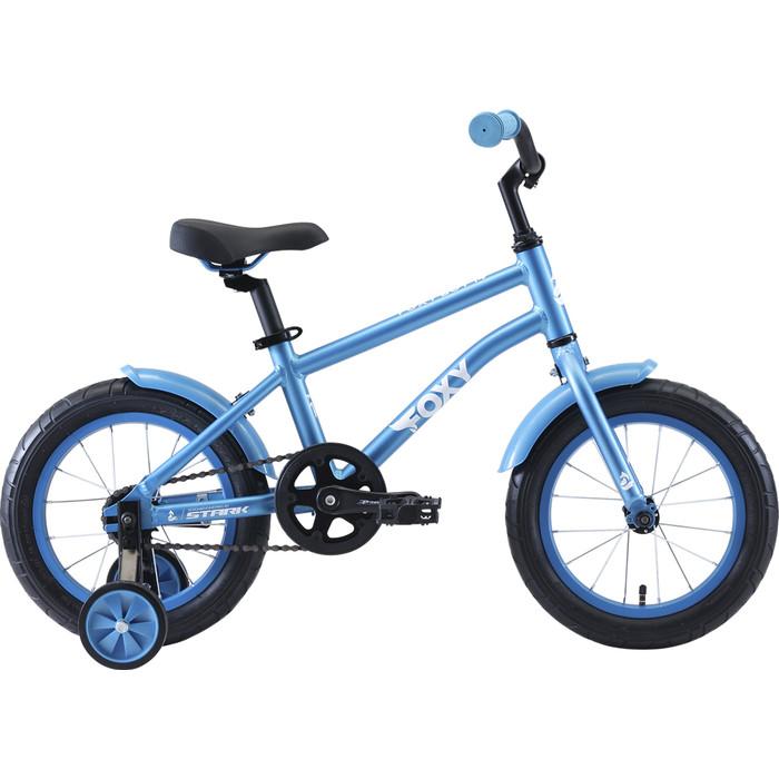 Двухколесный велосипед Stark Foxy 14 Boy голубой/белый