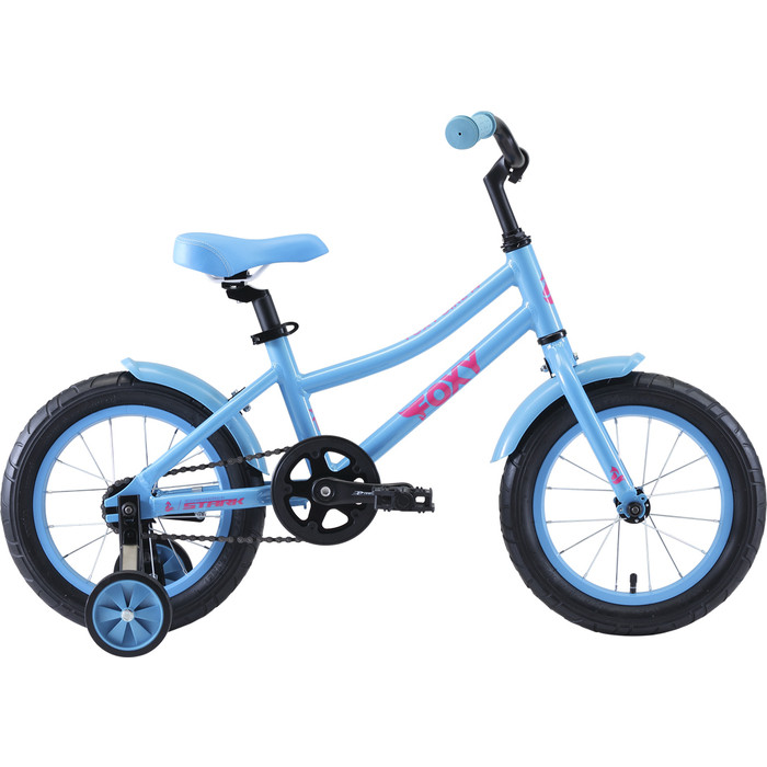 Двухколесный велосипед Stark Foxy 14 Girl бирюзовый/розовый