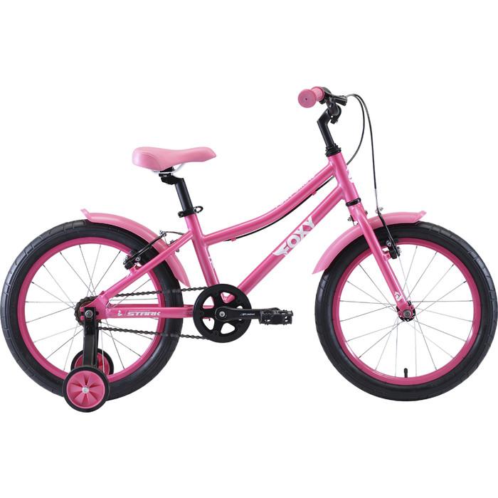 Велосипед Stark Foxy 18 Girl розовый/белый