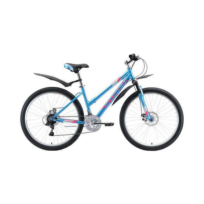 Велосипед Stark Luna 26.1 D (2020) голубой/розовый/серебристый 18