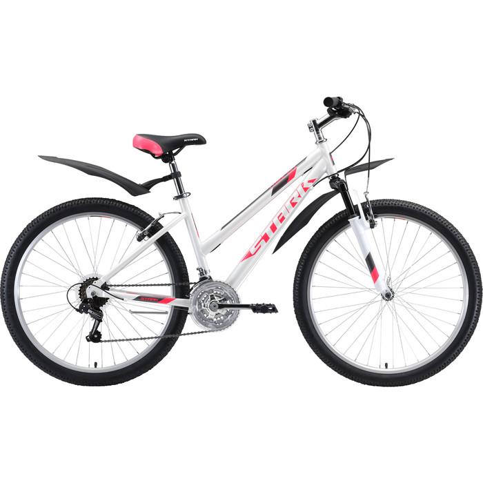 Велосипед Stark Luna 26.1 V (2020) белый/розовый/серый 14,5