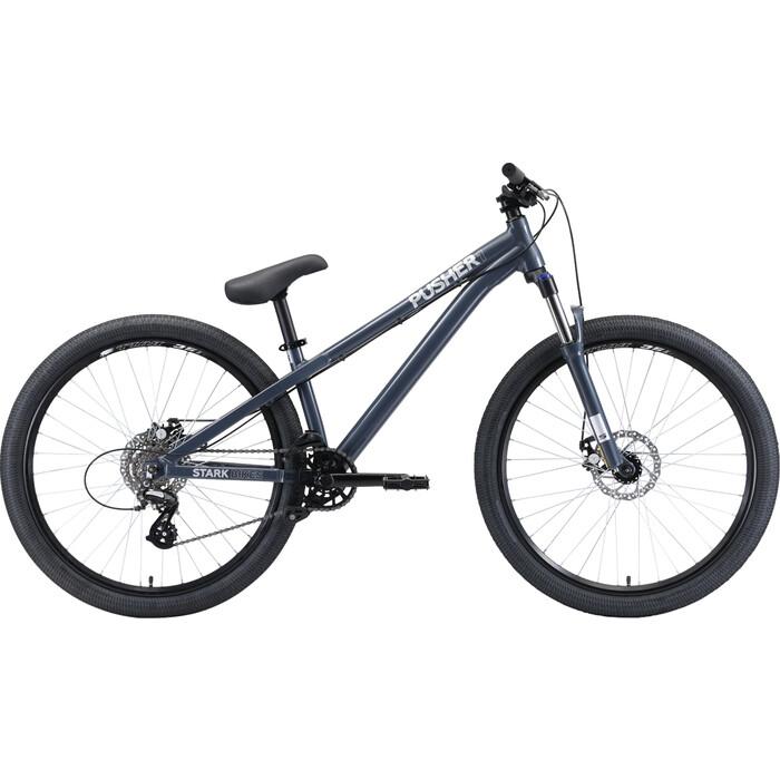 Велосипед Stark Pusher 1 SS (2020) серый/серебристый S