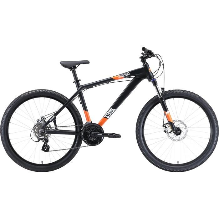 Горный велосипед Stark Shooter 1 (2020) чёрный/белый/оранжевый 16 велосипед stark 20 tanuki 16 boy зелёный белый
