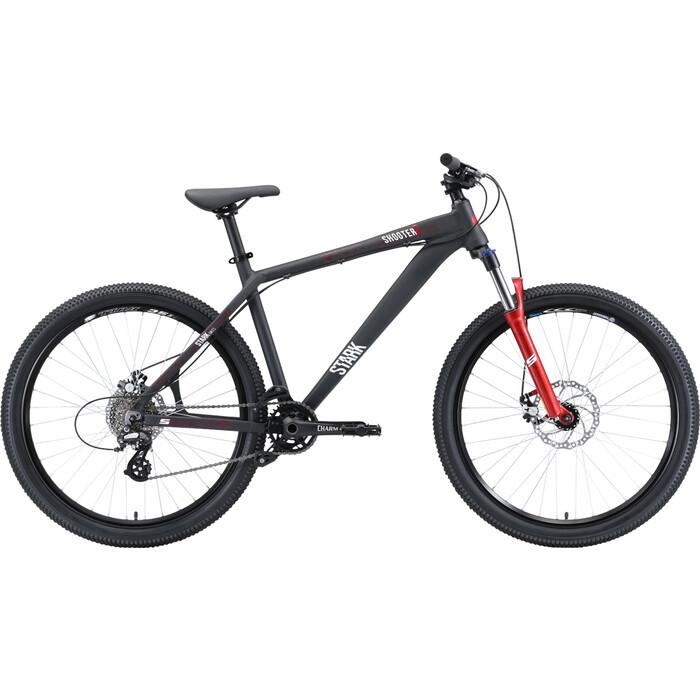 Горный велосипед Stark Shooter 2 (2020) чёрный/белый/красный 18
