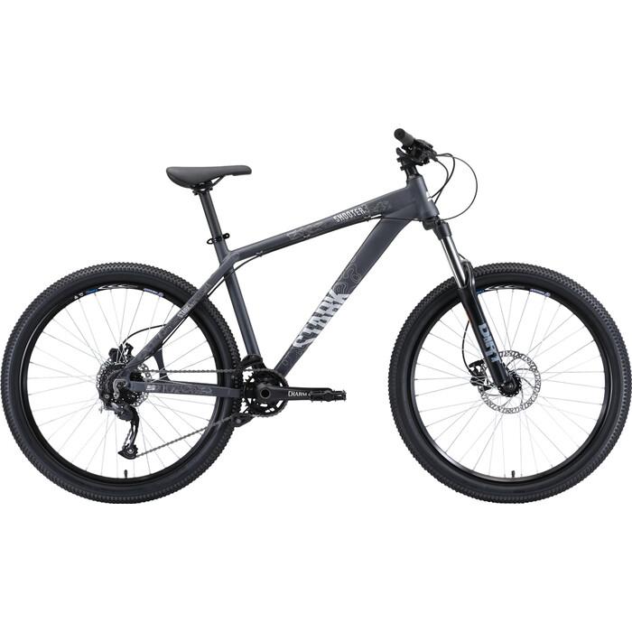 Горный велосипед Stark Shooter 3 (2020) серый/белый 18