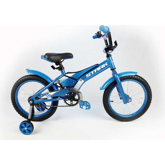 Двухколесный велосипед Stark Tanuki 16 Boy голубой/белый