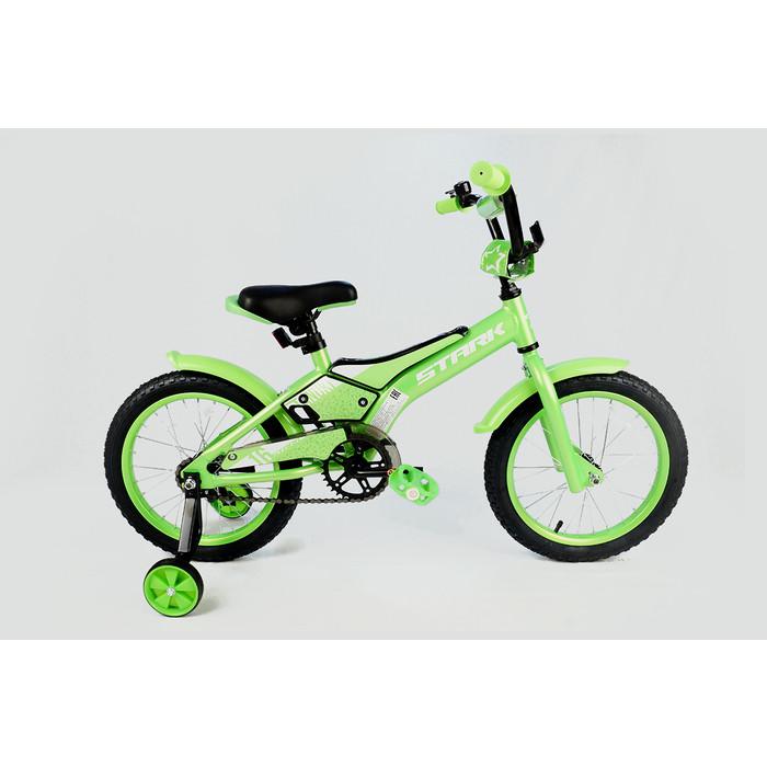 Велосипед Stark 20 Tanuki 16 Boy зелёный/белый