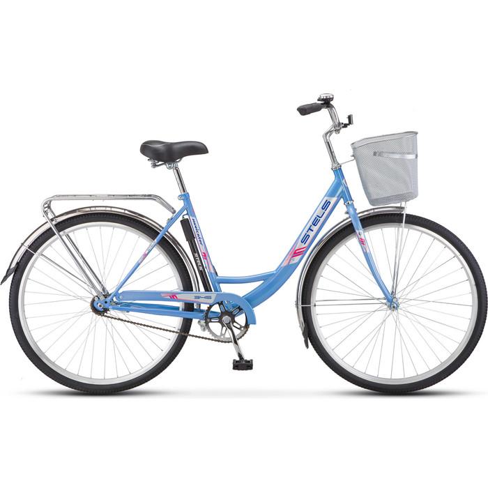 Велосипед Stels Navigator 345 28 Z010 (2018) 20 синий (С КОРЗИНОЙ)