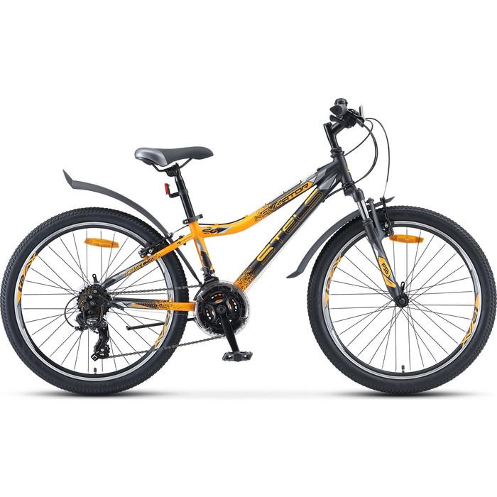 Велосипед Stels Navigator-410 V 24 21-sp V010 12 Чёрный/жёлтый велосипед stels 2612 v