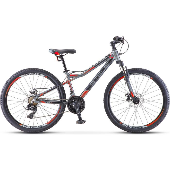 Велосипед Stels Navigator 610 MD 26 V040 (2019) 14 антрацитовый/красный велосипед stels navigator 670 md 2015