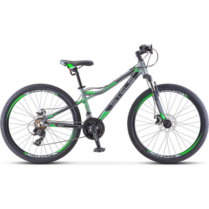 Велосипед Stels Navigator 610 MD 26 V040 (2019) 14 серый/зеленый велосипед stels navigator 670 md 2015
