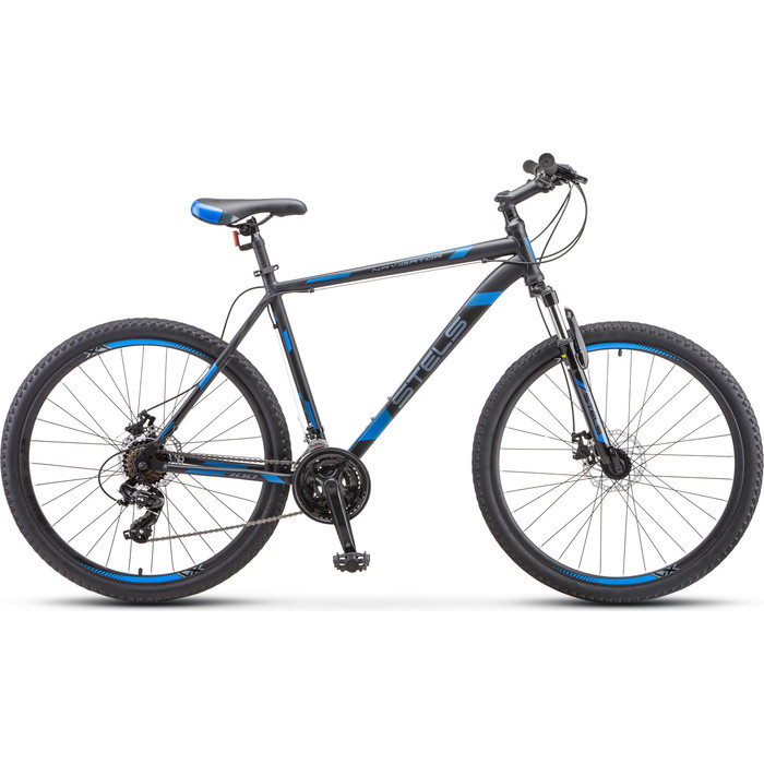 Велосипед Stels Navigator 700 MD 27.5 F010 (2020) 17.5 серебристый/синий велосипед stels navigator 670 md 2015