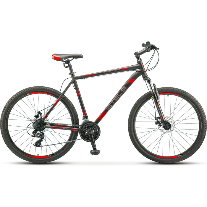 Велосипед Stels Navigator 700 MD 27.5 F010 (2019) 17.5 черный/красный велосипед stels navigator 670 md 2015