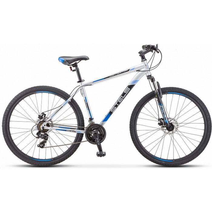 велосипед stels navigator 900 d 29 f010 21 серебристый синий Велосипед Stels Navigator-700 MD 27.5 F010 21 Серебристый/синий