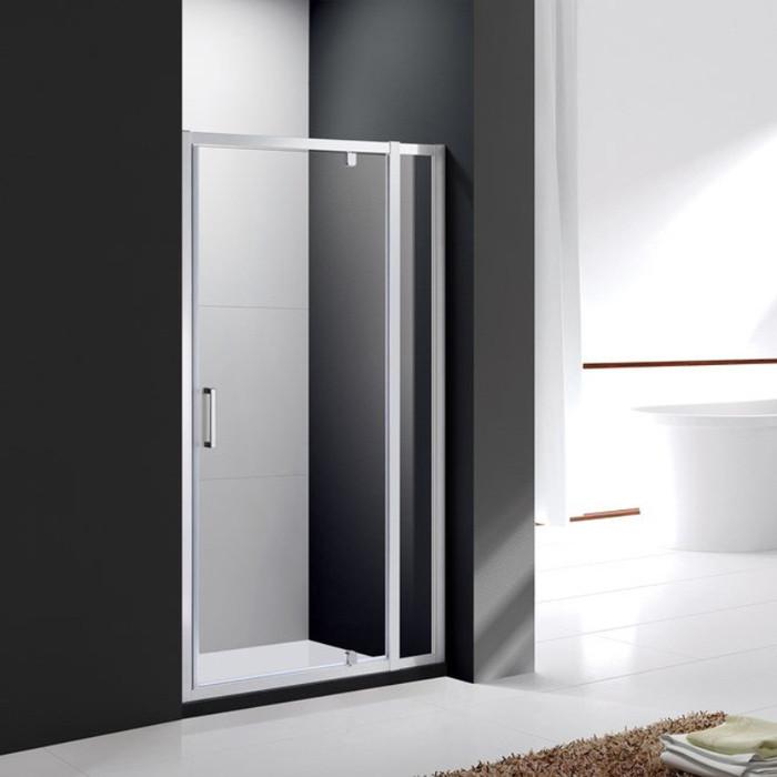 Душевая дверь Cezares Molveno BA-11 100x190 прозрачная, хром (MOLVENO-BA-11-70+30-C-Cr-IV)