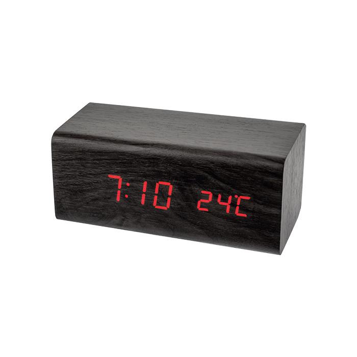 Радиобудильник Perfeo Block черный корпус / красная подсветка