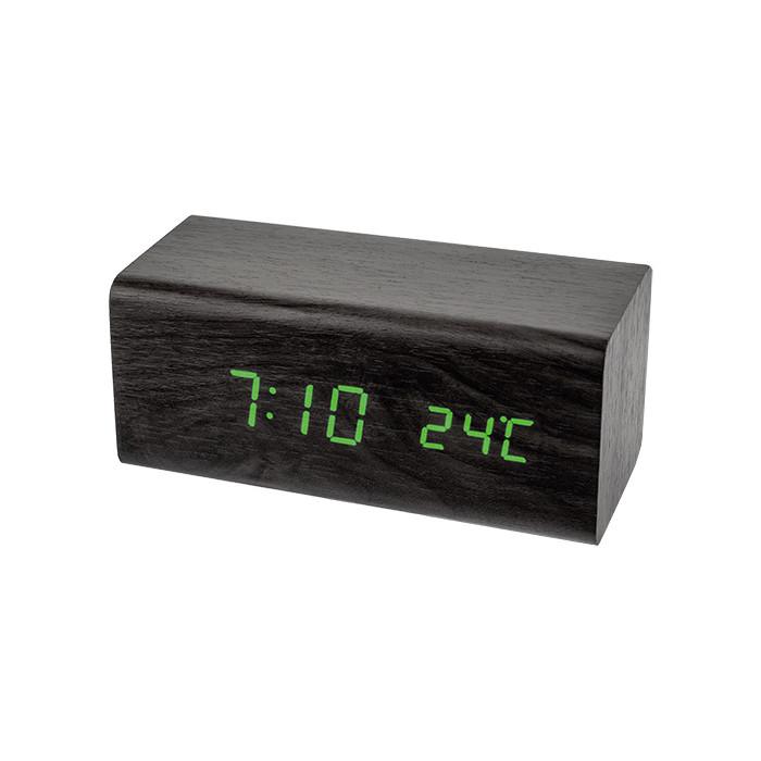 Радиобудильник Perfeo Block черный корпус / зеленая подсветка