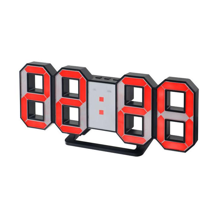Радиобудильник Perfeo LUMINOUS черный корпус / красная подсветка