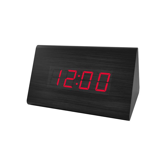 Радиобудильник Perfeo Trigonal черный корпус / красная подсветка