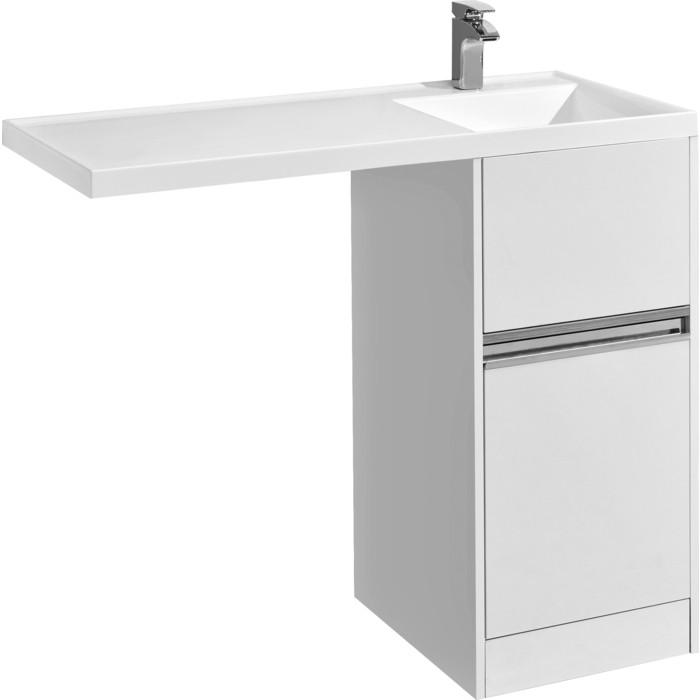 Тумба под раковину Акватон Лондри 40 для раковины стиральную машину, белая (1A236001LH010)