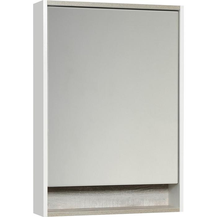 Зеркальный шкаф Акватон Капри 60 с подсветкой, бетон пайн (1A230302KPDA0)
