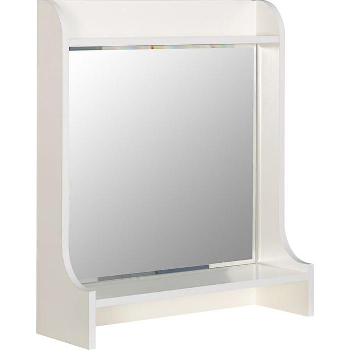 Полка Моби Ливерпуль 10.118 с зеркалом белый