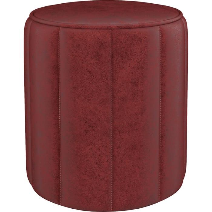 Пуф Нижегородмебель и К Вояж ткань ТП 162 Легион оксблад/оксидный красный