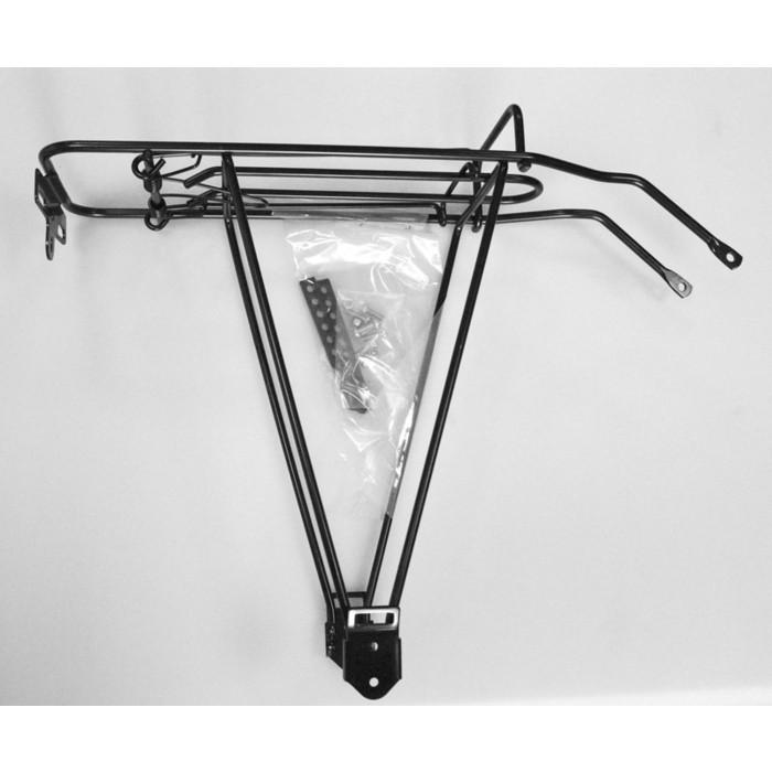 Багажник для велосипеда MOUNT 26-28 BY-B-03AC, сталь., эконом-вариант, универс., раздвижные ноги, с прижимом, черн.