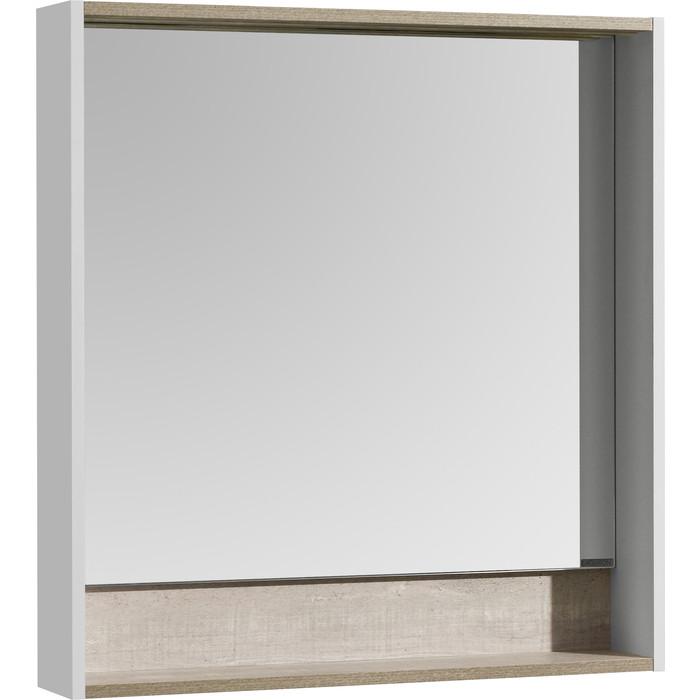 Зеркало Акватон Капри 80 с подсветкой, бетон пайн (1A230402KPDA0)