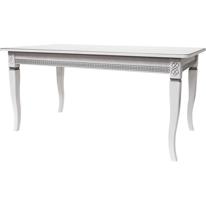 Стол обеденный Мебелик Фидея 3 белый/серебро 120/160x70