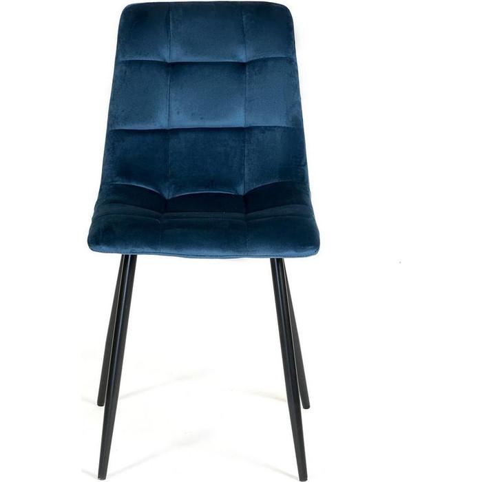 Стул TetChair Chilly (mod 7094) металл/вельвет синий/черный G062-48