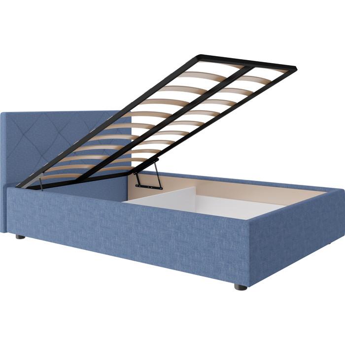 Кровать Комфорт - S Темпо 7 синий №1 (ромбы) габриэль 140 (пм+ящик)