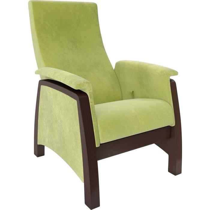 Кресло-глайдер Мебель Импэкс Balance 1 орех/ Verona apple green кресло глайдер мебель импэкс balance 3 натуральное дерево verona vanilla