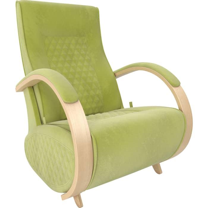 Кресло-глайдер Мебель Импэкс Balance 3 натуральное дерево/ Verona apple green