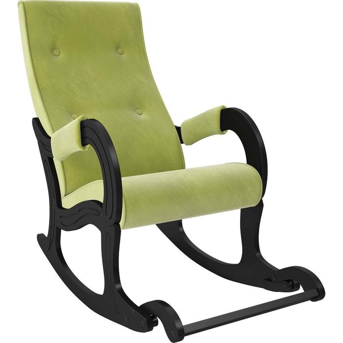 Кресло-качалка Мебель Импэкс Модель 707 венге, ткань Verona apple green