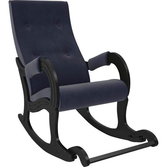 Кресло-качалка Мебель Импэкс Модель 707 венге, ткань Verona denim blue
