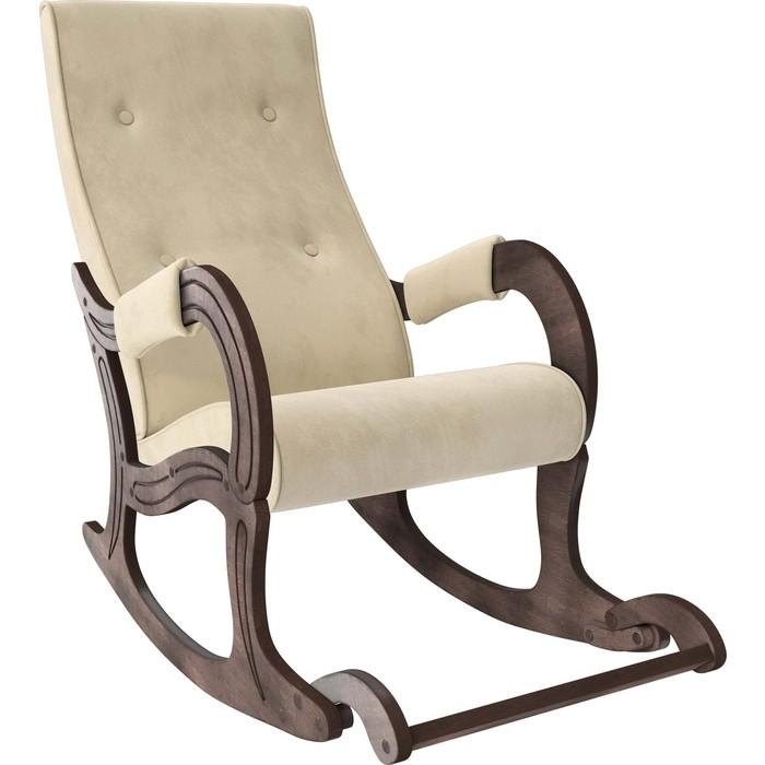 Кресло-качалка Мебель Импэкс Модель 707 орех антик, ткань Verona vanilla кресло глайдер мебель импэкс balance 3 натуральное дерево verona vanilla