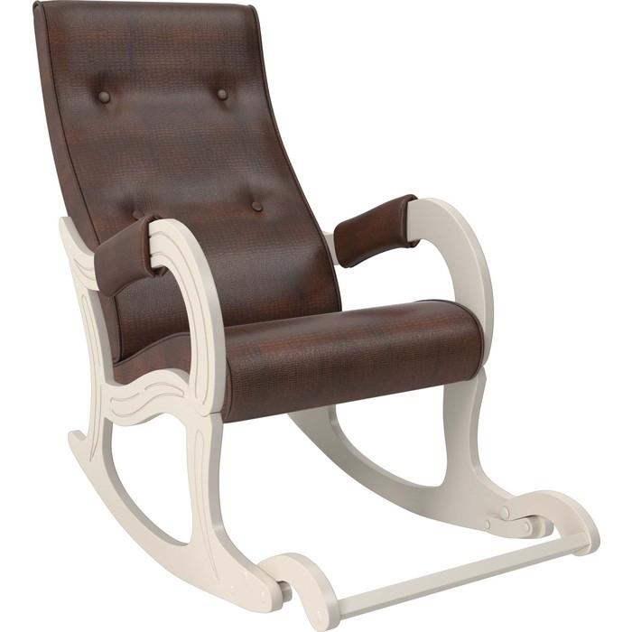 Кресло-качалка Мебель Импэкс Модель 707 дуб шампань, к/з antik crocodile