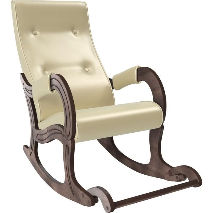 Кресло-качалка Мебель Импэкс Модель 707 орех антик, к/з Oregon perlamutr 106