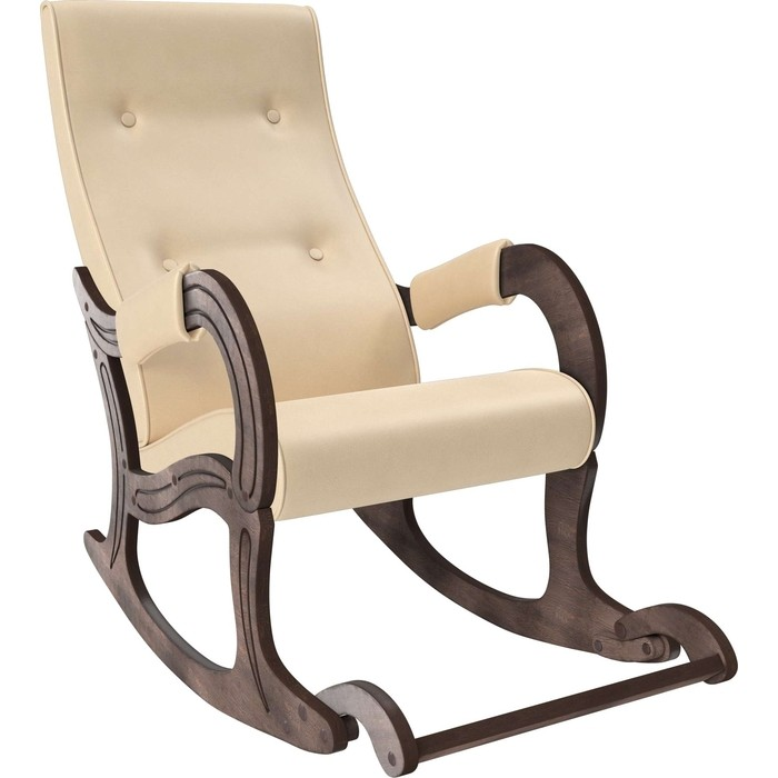 Кресло-качалка Мебель Импэкс Модель 707 орех антик,к/з Polaris Beige